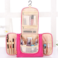 JUNYUAN Waterproof Travel Cosmetic Storage Fold Hang Toiletry Makeup Bag