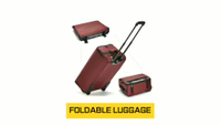 Large Capacity Foldable Rolling Trolley Travel Luggage Bag With Wheels