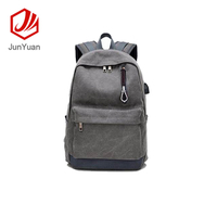 Stylish Canvas Laptop Backpack USB Port For Work and School
