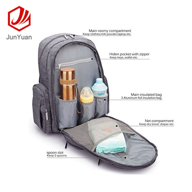 Popular Baby Diaper Bag Waterproof Multi-Function Backpack For Mothers