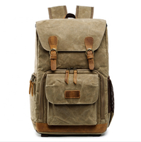 JUNYUAN Fashion Waterproof Canvas SLR Digital Shoulder Camera Backpack