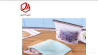 JUNYUAN Home Preservation Bags Reusable Container Silicone Food Storage Bag