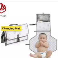 Baby Portable Diaper Changing Pad Travel Diaper Changer Mat With Head Cushion