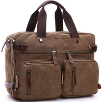 Travel and Leisure Portable Diagonal Backpack Canvas Bag Business Large Capacity Briefcase