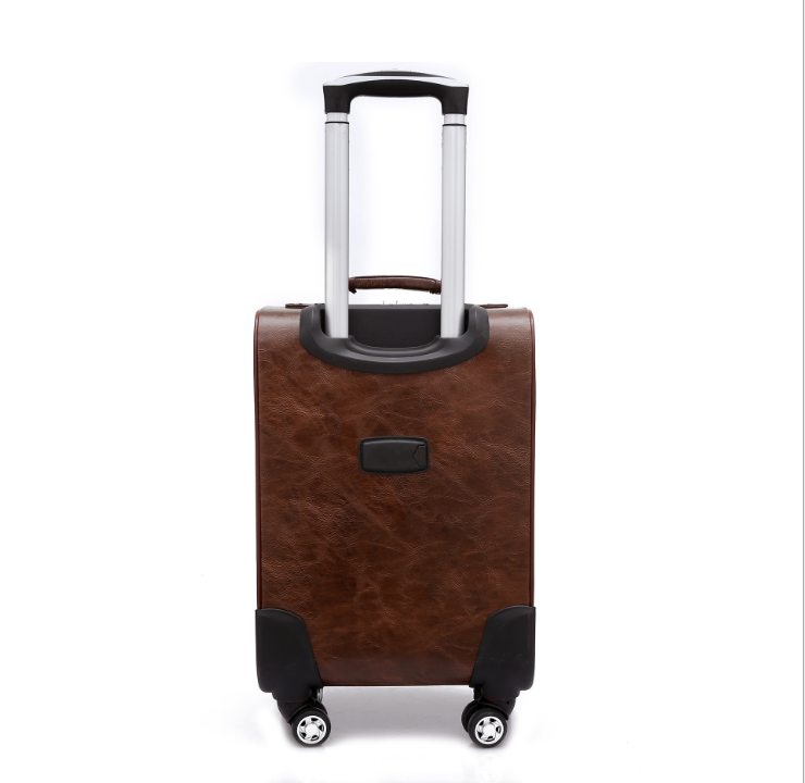 New Business Leisure Boarding Luggage PU Leather Anti-theft suitcase Travel Trolley Suitcase Luggage