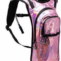 JUNYUAN Tactical Colorful Reflective Adjustable Hydration Pack Backpack with 2L Water Bladder