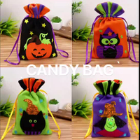 HALLOWEEN TOTE BAGS - Children's Kids Gift Party Loot Trick Treats Sweets Candy