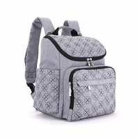 JUNYUAN Stylish Travel Designer Baby Mummy Diaper Bag Backpack with Stroller Straps