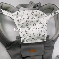 JUNYUAN Baby Carrier with Hip Seat, 6-in-1 Convertible Wrap Carrier