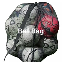Outdoor Drawstring Mesh Basketball Soccer Ball Bag With Shoulder Strap