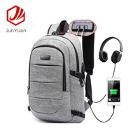Waterproof Travel Business Anti Theft Backpack with USB Charging Port & Headphone interface