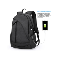 External USB Design Business laptop Backpack bag with anti-theft zipped pocket