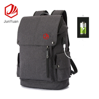 Anti-theft Waterproof Student Laptop Backpack With USB Charger Port