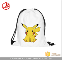 Custom printing cute pokemon shoe bag drawstring backpack with personalized
