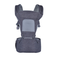 JUNYUAN Ventilate Slim Safety Baby Wrap Carrier With Hip Seat