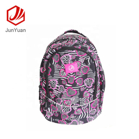 JUNYUAN Embroidery School Bag For School Students With Double Shoulder Bag