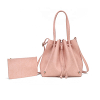 JUNYUAN 5 Colors PU Leather Handbags for Women Tote Bag Top Handle Satchel Handbag Shoulder Purse