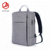 Junyuan Wholesale Promotional Stock Laptop Backpack Bag With USB Charging