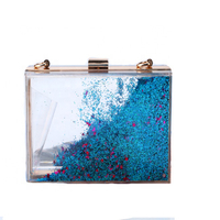 Fashion Translucent Design Evening Hand Bag For Woman