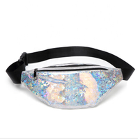 JUNYUAN Fashion Women PVC Waterproof Laser Waist Bag Beach Purse