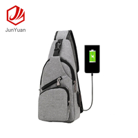 USB Charging Port Sport Bag,Unbalance Crossbody Chest Backpack for Travel