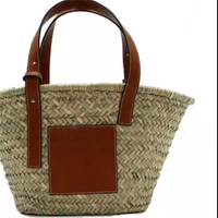 Korean Fashion Wheat Straw Beach Bag Tote Basket Handbag