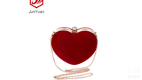 JUNYUAN Heart Shape Lady Hand Makeup Bag For Women