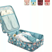 Waterproof Double layer Printing Travel Storage Finishing Shoe Bag for Unisex