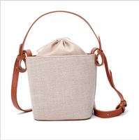 Women's one-shoulder bag with fairy bucket bag and burlap bag will be introduced in the summer of 2019