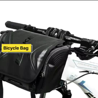 Bicycle Roll Black Gold Handlebar Bag, Large Capacity Cycling Bag