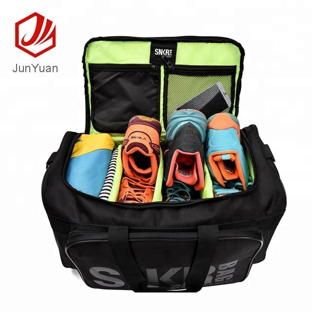 Waterproof Nylon Unisex Outdoor Travel Bag, Gym Bags with Sneaker Compartments